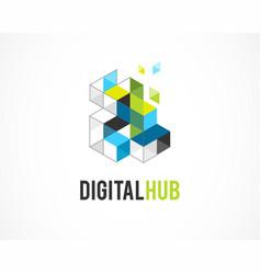 creative digital colorful icons real estate logo vector image vector image