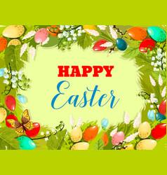 easter egg floral background for poster design vector image vector image