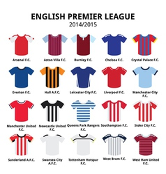 English Premier League 2014 - 2015 football jersey vector image