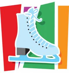 ice skate graphic vector image