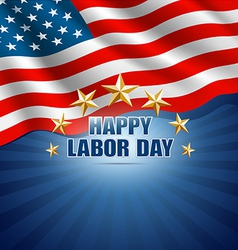 Labor Day in the American Background vector image vector image