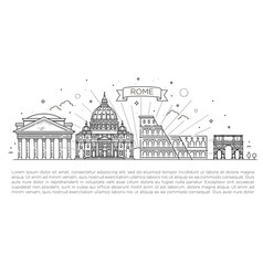 linear icon for vatican rome italy tourist vector image vector image