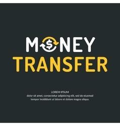 Modern money transfer logo and emblem vector image