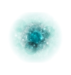 Turquoise bokeh sparkling abstract vector image vector image