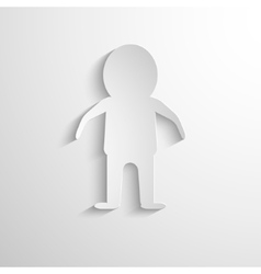 white paper figure of the man vector image