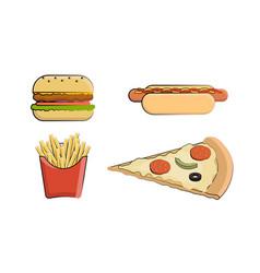 clip art fast food vector image