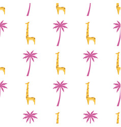 graphic giraffe isolated seamless pattern vector image