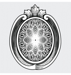 ornate shield vector image