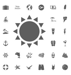 summer sun icons vector image