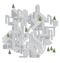 architecture in shape of labyrinth vector image vector image