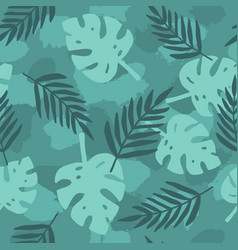 dark green tropical leafs background vector image vector image