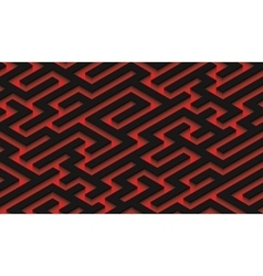 The maze black labyrinth - endless vector image