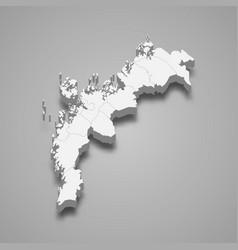 3d isometric map ostrobothnia is a region of vector image
