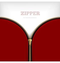 Abstract Background With Golden Metallic Zipper vector