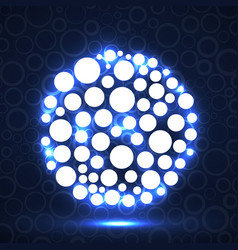 abstract ball of glowing circles vector image