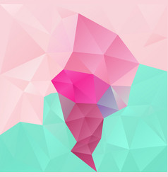 abstract polygonal background pink blue green vector image