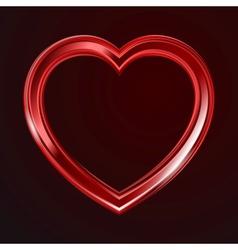 Abstract shiny hearts shape vector image