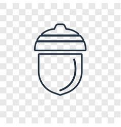Acorn concept linear icon isolated on transparent vector