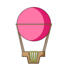 aerostat pink big balloon for flight and travel vector image