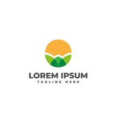 Agricultural fields logo icon vector
