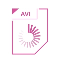 AVI file icon cartoon style vector