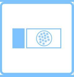 Bacterium glass icon vector