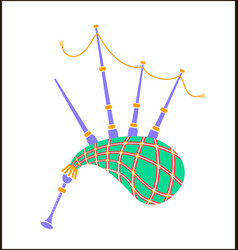 bagpipes icon vector image