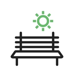 Bench in Park vector