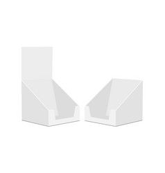 Blank counter display boxes mockups vector