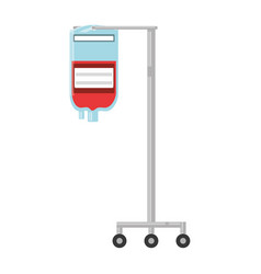 blood bag isolated vector image