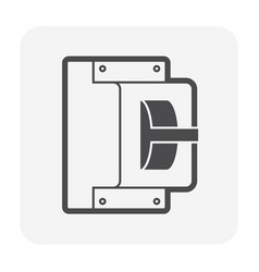 breaker electrical icon vector image
