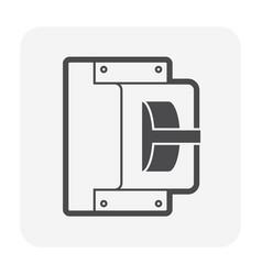 Breaker electrical icon vector