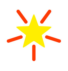 bright star icon flat vector image