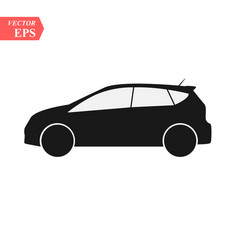 car icon isolated simple front car logo sign vector image
