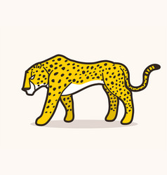 cheetah side view tiger vector image
