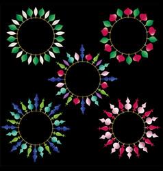 christmas ornament circle frames vector image