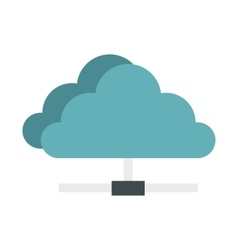 Cloud network connection icon flat style vector image