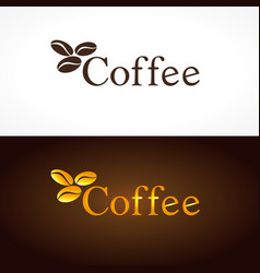 Coffee company logo beans vector