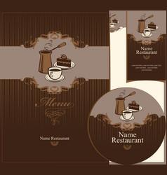 coffee dessert vector image