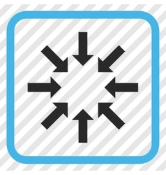 Collapse Arrows Icon In a Frame vector