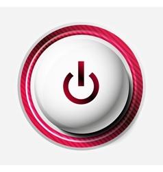 Color power button vector image