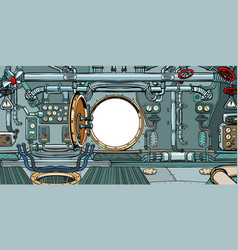 compartment or command deck a submarine vector image