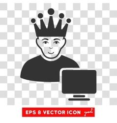 Computer Moderator EPS Icon vector