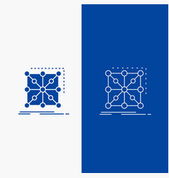 data framework app cluster complex line and glyph vector image