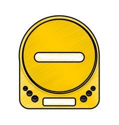 diskman music player icon vector image