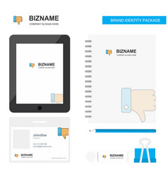 dislike business logo tab app diary pvc employee vector image