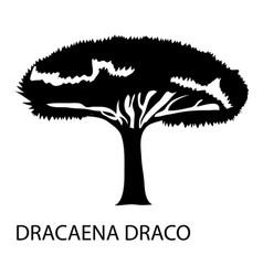 dracaena draco icon simple style vector image