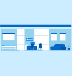 empty nobody hospital room interior modern clinic vector image