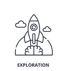 exploration line icon concept exploration vector image