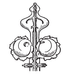 finial is an ornament generally carved resemble vector image